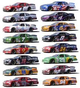 List Different Race Cars