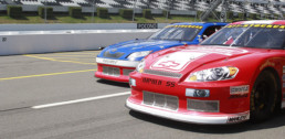 Stock Cars racing each other