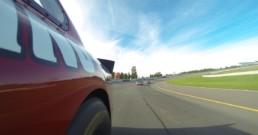 Side of car at Pocono Raceway