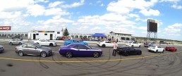 Performance car lined up at Pocono Raceway