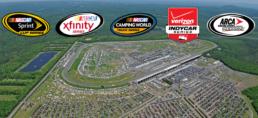 Pocono Raceway Arial View with Sponsors Logo