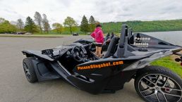 Polaris Slingshot Rental at Beltsville Lake