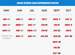 2020 Stock Car Event Schedule